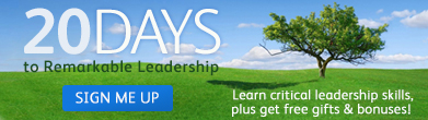 Click to Learn about 20 days to Remarkable Leadership