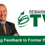 Remarkable TV: Giving Feedback to Former Peers