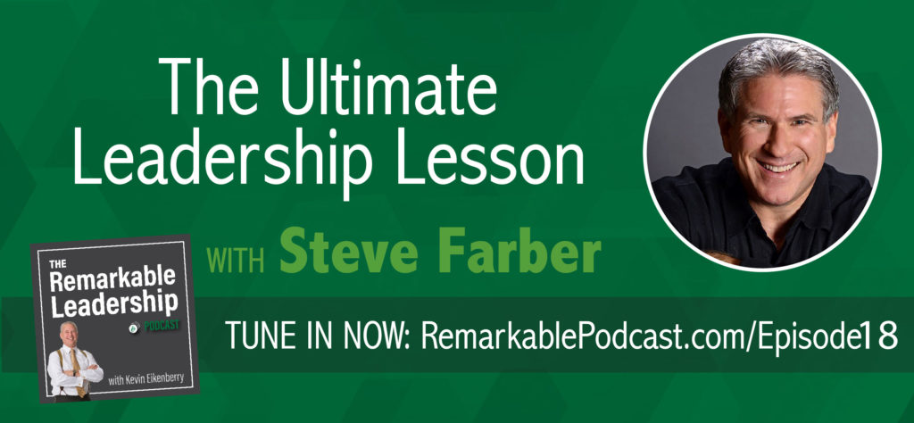 What makes an exceptional leader so great, and how can we become better leaders for those we lead? In today's episode of The Remarkable Leadership Podcast, best-selling author and founder of The Extreme Leadership Institute, Steve Farber, joins us to examine what true leadership means, as well as what we as leaders should strive to do to make both ourselves and those we lead become better in the long run.
