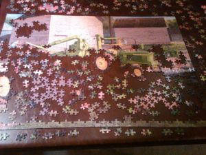 Unfinished jigsaw