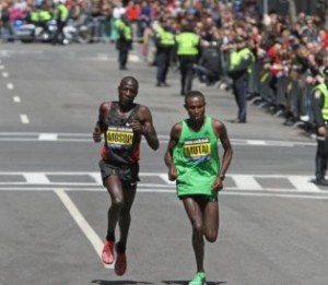 Geoffrey Mutai winning the 2011 Boston Marathon