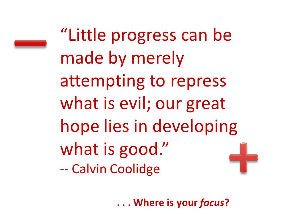 the best way to make progress