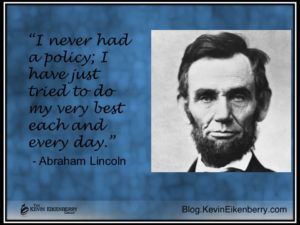 Lincoln quotation on policy