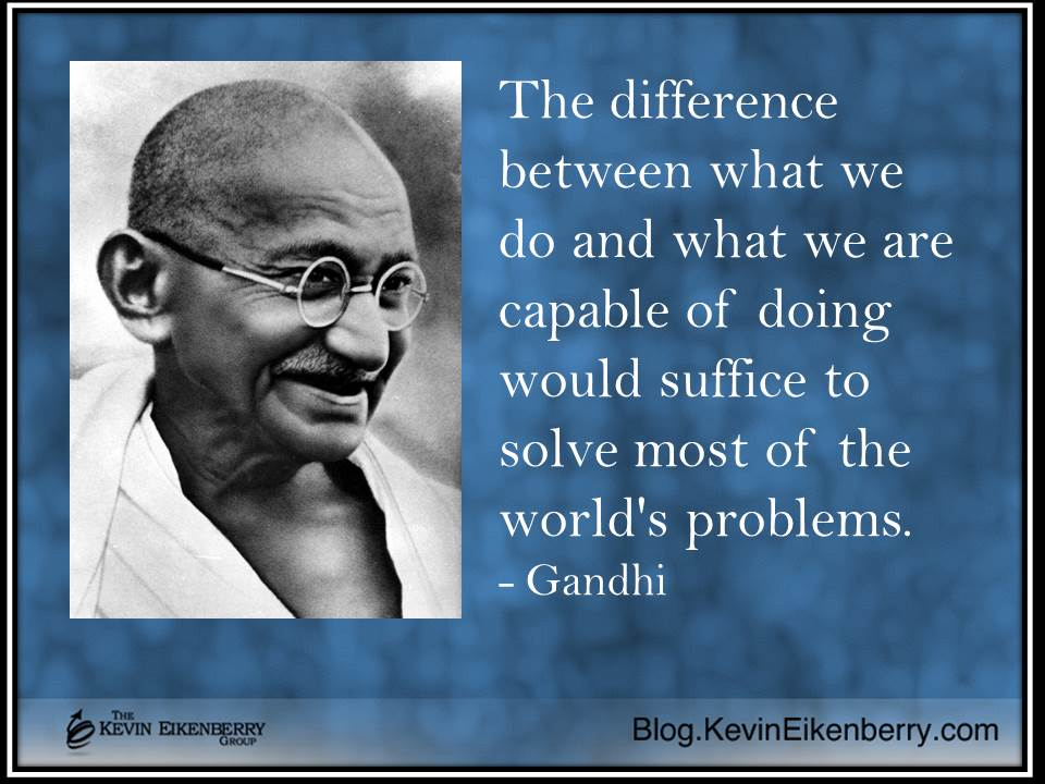 gandhi - solving problems