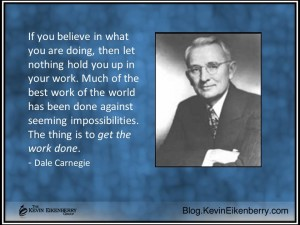 quotation on work from Dale Carnegie