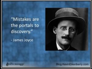 Mistakes - a James Joyce quotation