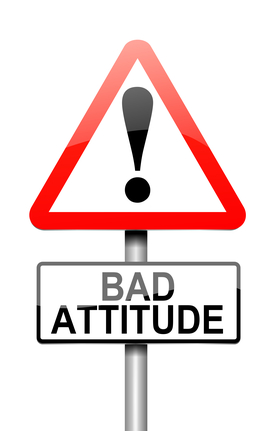 Bad attitude concept.