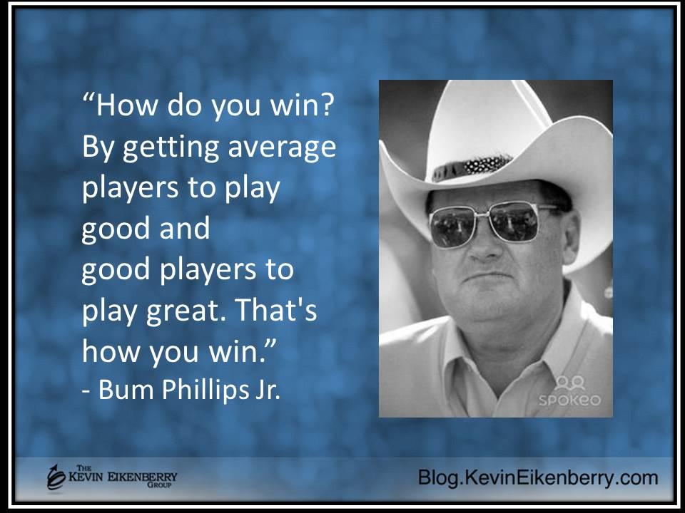 Bum Phillips on winning