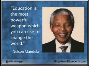 Nelson Mandela quotation on eductaion