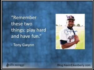 Tony Gwynn on baseball success