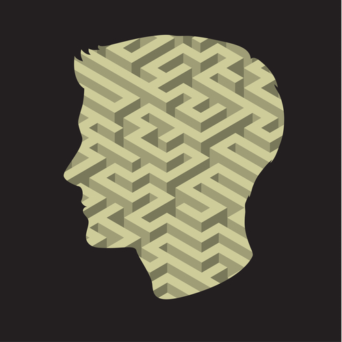 Symbol of the brain thinking