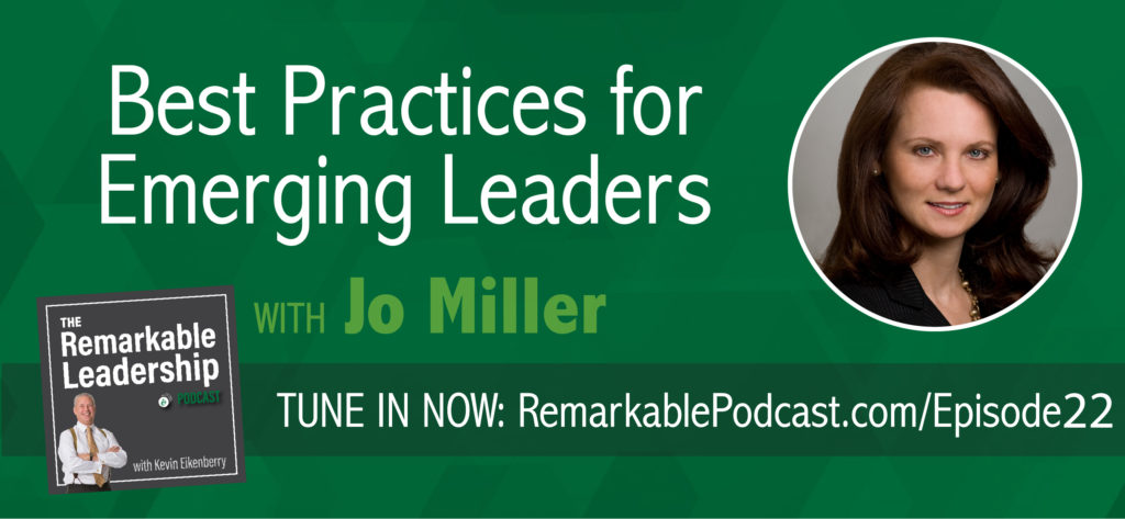"Are you the best-kept secret in your organization? What does it take to be recognized as an emerging leader? In today's episode of the Remarkable Leadership podcast, CEO of Women's Leadership Coaching, Inc., Inc., founding editor of Be Leaderly, and author of the upcoming book, ""She's Got Clout: How to Become A Rising Woman of Influence,"" Jo Miller offers innovative tips and techniques that every up-and-coming leader needs to be successful and influential in any organization!"