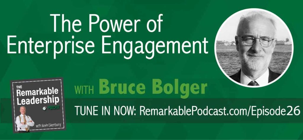 """Want better business results and success? Then today's episode is one you won't want to miss! Join Bruce Bolger, """"Mr. Engagement"""" and Managing Director of EEA (The Enterprise Engagement Alliance) as we discuss what REAL engagement means, and how fostering proactive involvement with others will get you on the fast track to sustainable success!"""