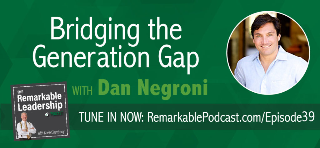 Per the Bureau of Labor Statistics, Millennials will be the largest generation in the workforce by the end of 2015. They bring a different bias and experience to the workplace and new ideas to relationships.  Dan Negroni, founder of Launchbox and author of Chasing Relevance, discusses how to relate with our colleagues and bridge that generation gap and improve employee engagement.