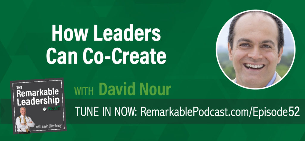 Leaders invest in relationships and continue to evolve to remain relevant to that relationship. David Nour thought leader on the topic of business relationships for more than 25 years joins Kevin to discuss his latest book, Co-Create: How Your Business Will Profit from Innovative and Strategic Collaboration. Co-creation means finding the common goal, sharing the same vision and working together through your strategic relationship to achieve the next big thing.