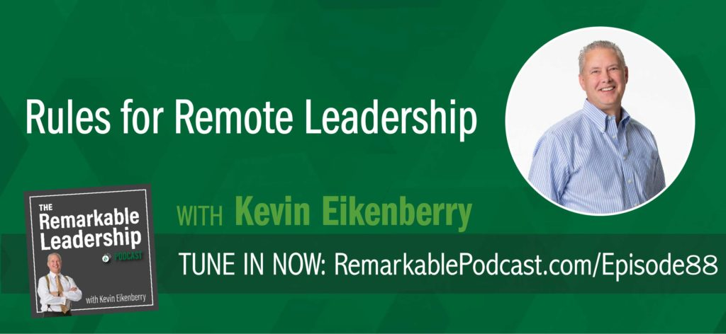 Leading from a distance can seem difficult, yet it is still about leadership, and the principles of leadership haven't changed—they are principles. In this episode, Kevin is in the visitor's seat to talk about the opportunities and challenges with leading a remote team. He gives us a preview into The Long-Distance Leader, scheduled for a June 2018 release and shares some takeaways we can implement today