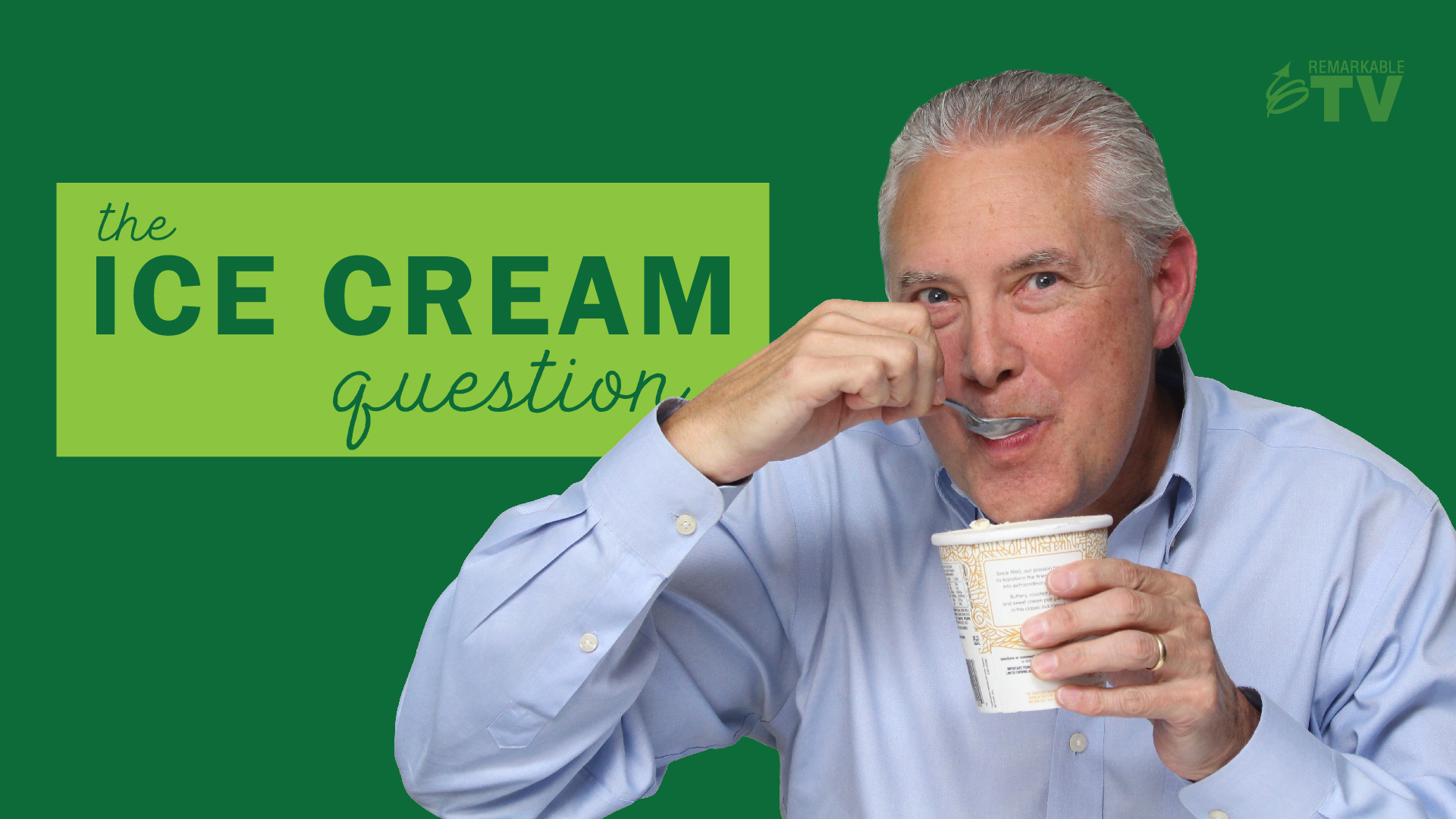 Video splash image for a video titled The Ice Cream Question