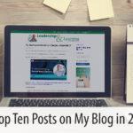 The Top Ten Posts on My Blog in 2020